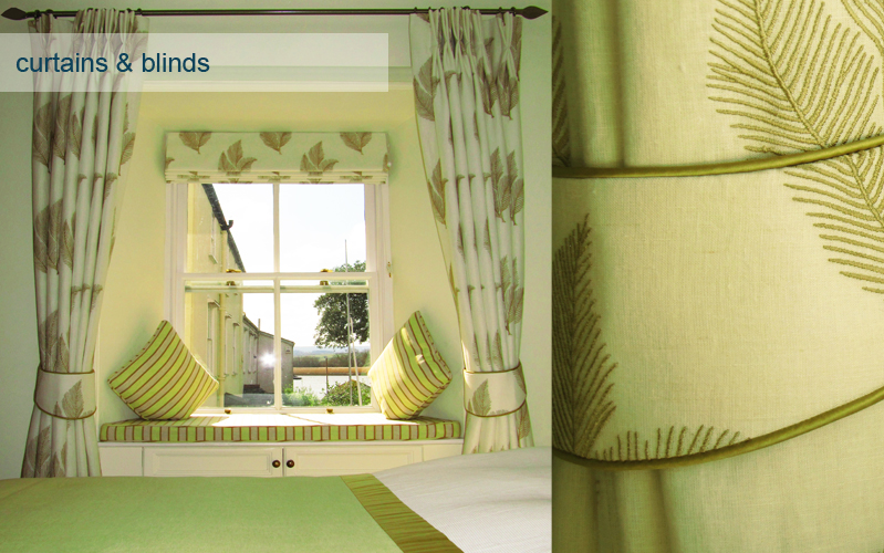 Curtains and blinds by Custom House Design interior design Exeter